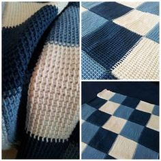This blanket is made using the Tunisian Simple Stitch. I really adore this stitch and the wonderful texture it creates - it gives the blanket an almost woven look.