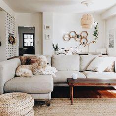 Boho living room neutrals