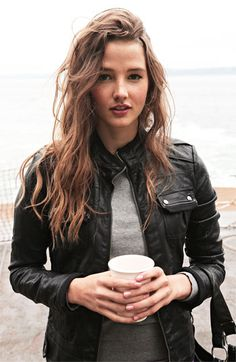 Faux leather jackets, Fleece hoodie and Women's casual on Pinterest