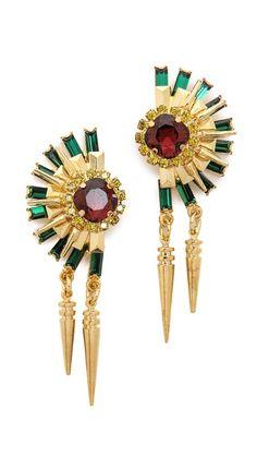 Elizabeth Cole Crystal Statement Earrings