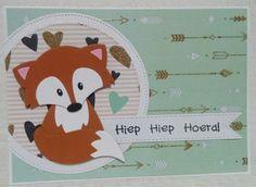 Gemaakt door Joke # kinderkaart met vosje, voor Elin