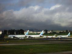 https://flic.kr/p/Qn6Bd1 | Euro Atlantic 767, 737, PGA Fokker 100