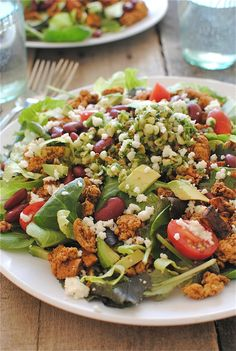 Loaded Turkey Taco Salads / Bev Cooks