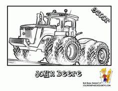Ausmalbilder Traktor John Deere