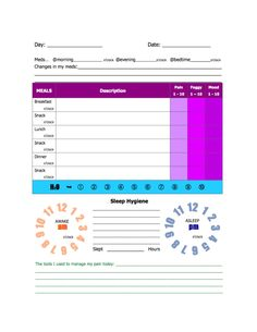 Pain Log Template | A7012-PD-6 My Pain Diary | Projects to Try ...