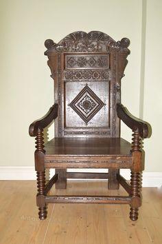 ~ Wainscot Chair ~ antiques-atlas.com