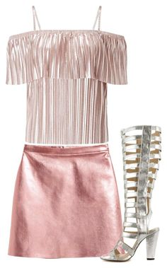 """""""Club Party"""" by brooklynbeatz ❤ liked on Polyvore featuring Miss Selfridge, Michael Antonio, Pink, metallic, danceparty and pinkandsilver"""