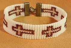 Loom beaded bracelet glass seed beads by beadingrays on Etsy Loom Bracelet Patterns, Bead Loom Bracelets, Bead Loom Patterns, Bracelet Crafts, Beading Patterns, Macrame Bracelets, Stitch Patterns, Seed Bead Earrings, Seed Beads