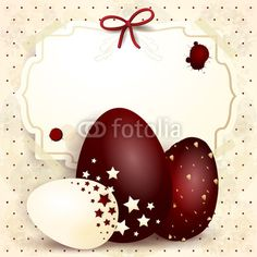 #Easter background with custom label  #vector