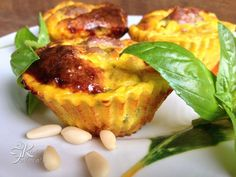 Ricetta Antipasto : Frittatine al forno con salsiccia, basilico e pinoli da Fulviaskitchen