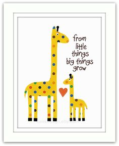 Nursery Art Print Nursery Giraffes  Kids Room Decor by BeekDesign, $15.00