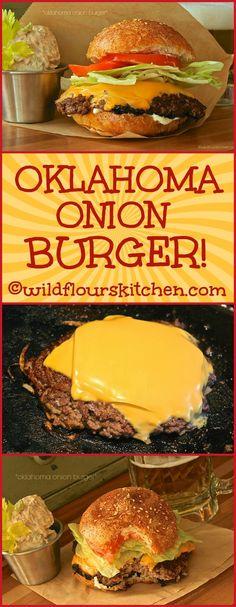 Oklahoma Onion Burgers - Burger & Sandwiches, Toasts & Dogs & more - # Gourmet Burgers, Beef Burgers, Veggie Burgers, Burger Food, Pizza Burgers, Beef Sliders, Mini Burgers, Grana Extra, Onion Burger