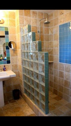 best bathroom remodel ideas on a budget that will inspire you 1 ~ mantulgan. best bathroom remodel ideas on a . Shower Remodel, Small Bathroom Decor, Bathroom Remodel Designs, Bathroom Interior, Bathroom Renovations, Amazing Bathrooms, Glass Block Shower, Downstairs Bathroom, Bathroom Decor