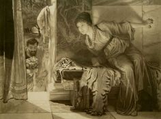 Welcome Footsteps. After Alma-Tadema, OM, RA Sir Lawrence 1836-1912.    Etching by Leopold Lowenstam (1842-1898).  Signed by artist and engraver.  Bears PSA stamp.  Bears remarque of the artist's house in St. Johns Wood.  Published by Arthur Tooth And Sons, 1888.
