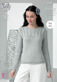 99d71b78298e Chunky Knitted Sweater - King Cole Rowan Felted Tweed