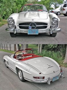 Our Parsifal featured car this week is a 1960 white 300SL Roadster with red leather interior, a Holiday beauty. There were only 249 of this model produced in the year 1960!- making this Benz one of our rarest right now in the Black Forest Classic Workshop. This classic would put Santa's sleigh to shame.