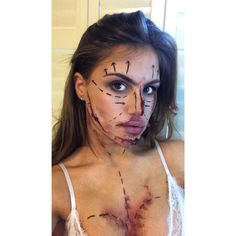Plastic surgery Halloween makeup special fx
