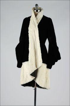 1920's Silk Velvet and Fur Coat