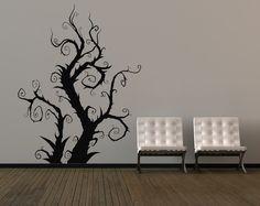 Whimsical Burtonesque Tree - Vinyl Wall Art Decal. $85.00, via Etsy.