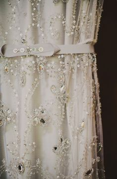 Jenny Packham - photo by Ariel Renae http://ruffledblog.com/peach-and-gold-georgia-wedding #weddingdress #jennypackham #bridal