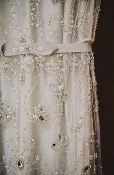 Jenny Packham - photo by Ariel Renae http://ruffledblog.com/peach-and-gold-georgia-wedding #weddingdress #jennypackham #bridal