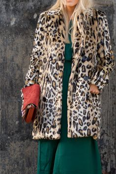 Leopard coat with Chloe Faye bag on The Boyish Girl
