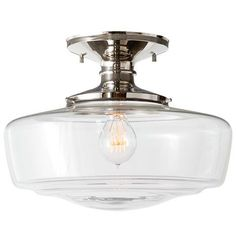 """Eastmoreland Semi-Flush 6 in overall width 14"""" x overall length 10.11"""""""