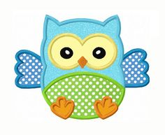 Baby Owl Applique Machine Embroidery by LovelyStitchesDesign