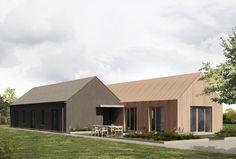 Slip house, #corkarchitect #design #newbuild Building Extension, Rural House, Two Storey House, Cottage Exterior, Planning Permission, Semi Detached, New Builds, Modern House Design, Bungalow