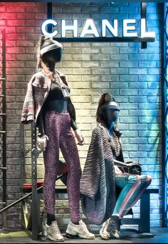 """Bergdorf Goodman, New York, """"I will take the Boogie Box Fitness Class with its high- intensity fusion of hip-hop and Latin dancing mixed with kickboxing.....what do you think Sally?"""", pinned by Ton van der Veer"""