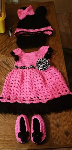 Mini Mouse Inspired Crochet Dess Set by CraftsyMomma26 on Etsy