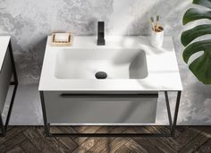 Metal profiles define the Underground collection of this Italian-crafted bathroom furniture collection.  Now 25% Off. Sale extended til 31st July.  #vanity #industrial #modernvanity  #bathroomvanity #SALE Compact Bathroom, Bathroom Vanity Units, Bathroom Furniture Design, Modern Vanity, Metal Structure, Bathroom Styling, Furniture Collection, Industrial Style, Basin
