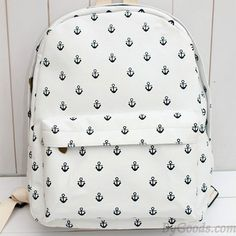 Fashion Navy Anchor Canvas Backpack only $25 in ByGoods.com