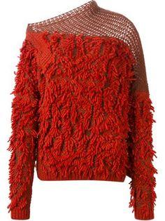 '152 Tapas' fringed sweater