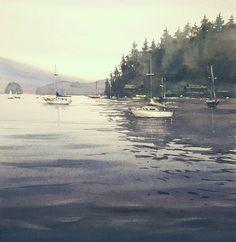 Pablo Rubén López Sanz    Just for the good memories that bring me this image deserves a watercolor. Deep Cove, Vancouver.