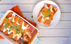 These enchiladas are really tasty! Potatoes are tossed in a blend of hot spices and wrapped up in a warm tortilla with black beans and fresh herbs.