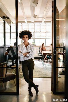 Creative female executive at startup