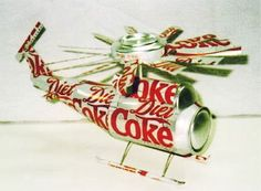 Recycling #Coke  #helicopter