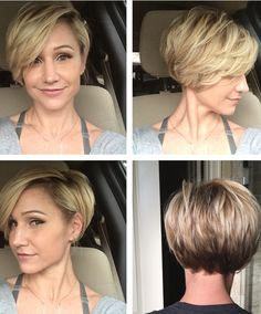 Short hairstyles for fine hair are one of the hairstyles that women often think of, but they don't dare to try them. There are many short and pleasant hairstyles for fine hair. Fine hair is o… Short Bob Cuts, Short Layered Haircuts, Short Bobs, Short Pixie, Short Layers, Short Wavy, Pixie Cuts, Long Pixie Haircuts, Very Short Bob