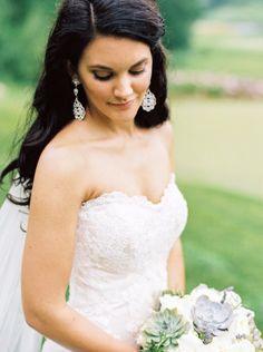 Bridal style: http://www.stylemepretty.com/wisconsin-weddings/greenbay/2015/07/15/lush-country-club-wedding-in-green-bay/ | Photography: Emily Katharine - http://www.emilykatharine.com/