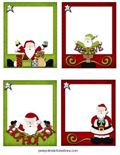 Pink Polka Dot Creations:  Free, cute, whimsical Christmas tags and labels!