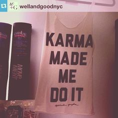 #Repost from @Well + Good  Karma Made Me Do It @spiritualgangster tank spied at @themovementfitnessifua2COX
