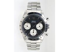 ROLEX DAYTONA STAINLESS STEEL WATCH CIRCA 1968 Rolex Daytona stainless steel watch, Ref#6239, circa 1968. Manual wind, black dial, silver hands, stainless steel bezel, 36mm case. #CraigEvanSmall #Watch #Rolex #VintageRolex