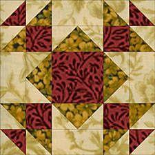 ~ Summer Winds #Quilt Block Pattern.
