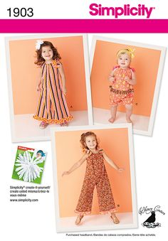 McCall/'s 6643 Toddlers/' and Girls/'  Dress and Jumpsuit    Sewing Pattern