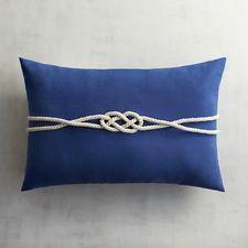 Cabana Cobalt Rope Lumbar Pillow