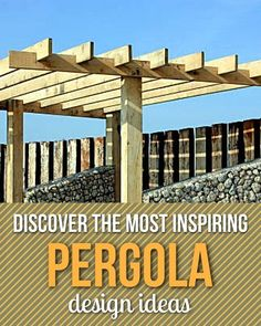 Find the finest backyard pergola for cooling-down or jazzing-up a deck, patio, garden or other outdoor space.#pergola #pergolaideas #pergoladesign #pergolaplan #pergolas #garden #gardendesign #gardenideas #patio #outdoor #outdoorliving #patios