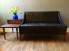 A personal favorite from my Etsy shop https://www.etsy.com/listing/254563391/mid-century-modern-love-seat-black