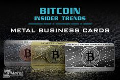 Metal Business Cards for Bitcoin Experts on Behance Metal Business Cards, Bitcoin Business, Plastic Card, Crypto Currencies, Finance, Knowledge, Economics, Facts