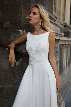 2017 scoop chiffon with applique robes de mariée a line sweep train x116736  pas cher - LaBelleRobe.com for mobile. Torta Nuziale VestitoAbito ... 9519b78da01
